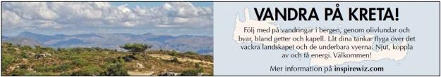 vandra vandring vandrare kreta annons aftonbladet resa